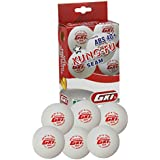 GKI KUNG-FU ABS Plastic 40+ Table Tennis Ball, Pack Of 48 (White)
