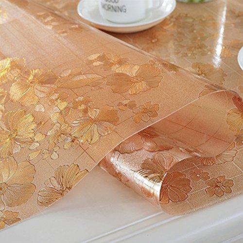 Verdicken sie Tischdecken,Klare kunststoff-tischdecken Wasserdicht tischdecke Einweg Anti-verbrühende isolierte spitze Weiches glas Dining schreibtischunterlagen Teetisch matten Tischtuch Wachstuch tischdecke-E 90x130cm(35x51inch)
