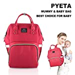 Diaper Bag Nappy Bag Backpack Mummy backpack Rucksack Waterproof Multi-Function Mommy Bag for Baby Care Large Capacity…