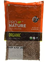 Pro Nature 100% Organic Masoor Black Whole, 500g