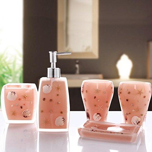 XXN-Coppa di spazzolatura impostare set da bagno continentale mediterraneo orientale suite bagno bagno di vetro nuovo collutorio inaugurazione della casa nuova doni,rosa pallido