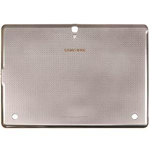 Original Samsung Akkudeckel titanium-bronze für Samsung T805 Galaxy Tab S 10.5 LTE (Akkufachdeckel, Batterieabdeckung, Rückseite, Back-Cover) - GH98-33579A