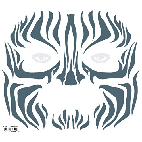 Tinsley Transfers Tribal Zebra Face Tattoo Kit (Tattoo Zebra)