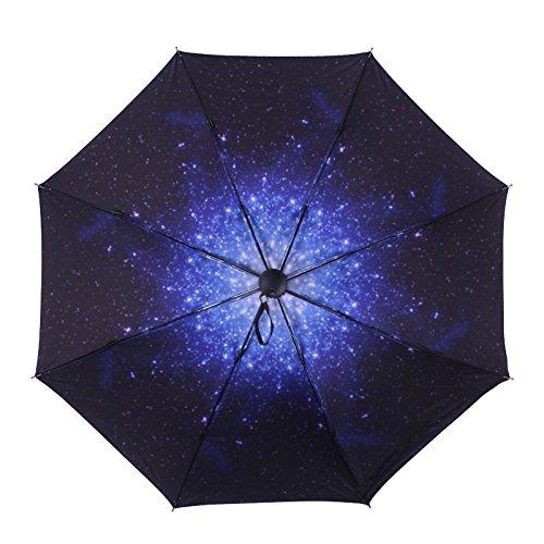 MAYUAN520 Regenschirm _ Kreative Neue Vinyl - Dach Schirm Schirm Kompakte Schnell Reisen Regenschirm Mit, Leicht Zu Tragen,Sternenhimmel