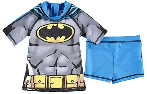 2 Piece Infant Boys Print Swim Set Swimwear Top Shorts (5-6 Yrs, Batman)