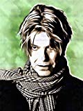 PAINTING PORTRAIT POP STAR MUSICIAN DAVID BOWIE ART PRINT POSTER HP1763