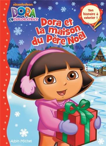 Dora et la maison du père Noël -coloriage 1