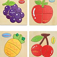 Demarkt Wooden Puzzle Classic Puzzle Fruit Toy Educational Game for Girls Boys Kids Toddler 3 4 5 Year Olds