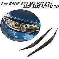 Jcsportline - Faros delanteros de fibra de carbono seco para BMW F87 M2 F22 F23 220i 228i M235i M Sport Coupe Convertible 2014-2018