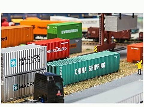 FALLER FA 180844 - 40 Container China Shipping, Zubehör für die Modelleisenbahn, Modellbau