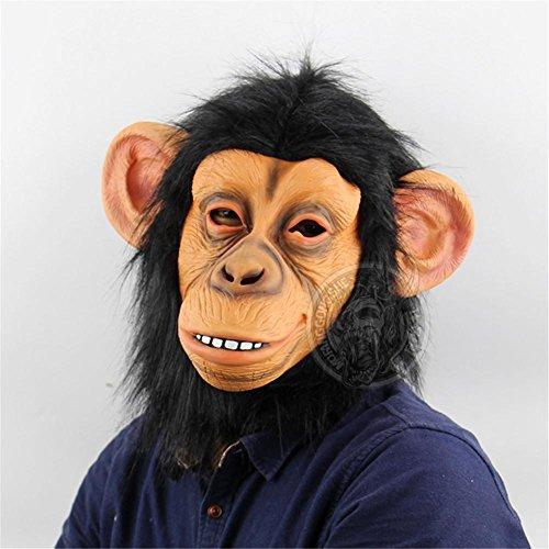 SQCOOL Lustige Affe Maske Halloween Lustige Tiere Performance Orang-Utan Jacke Latex Make-up Ball Horror