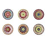 Rose & Tulipani Set mit 6Salattellern in verschiedenen Farben, mediterranes Design