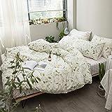 Kexinfan Bettbezug Baumwolldruck-Vierteiler-Set Bett Bett Bett Schlafsaal Bettwäsche, Bettlaken, Blue Morning, 2,0 M (6,6 Ft) Bett