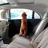 Autotürschutz hund, eJiasu Hundedecke auto rückbank Autoabdeckung für hunde für Fahrzeuge Türschutz haustier Autositzabdeckung mit 3 zusätzlichen Taschen Wasserdicht Car Door Guard für Tier (2 Stück, Schwarz)