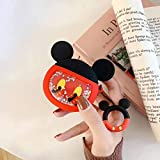 iFiLOVE Airpods Funda, 3D Cute Cartoon Fluido Dynamic Liquid Glitter Soft Silicone Protective Shockproof Case Cover with Ring Buckle Holder Compatible with Apple Airpods Case 2 & 1