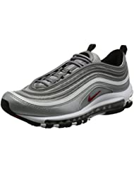 "Nike Air Max 97 OG QS ""Silver Bullet La Silver"" - Metallic Silver/Varsity Red Trainer"