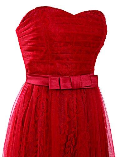 Dresstells, robe longue de soirée dentelle , robe de cérémonie col en cœur, robe longueur ras du sol de demoiselle d'honneur Corail