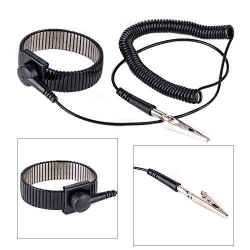 Beautiful 1.8m Anti Static Wrist Strap Grounding Electricity Discharge Esd Band Bracelet High Quality Black Adjustable Strap #1210 High Quality And Inexpensive Smart Accessories