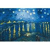 Vincent Van Gogh - Noche Estrellada Sobre El Ródano, 1888 Cuadro, Lienzo Montado Sobre Bastidor (120 x 80cm)