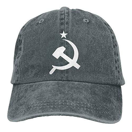Walnut Cake Hüte,Kappen Mützen Baseball Cap Russian CCCP Hammer Men Women Golf Hats Adjustable Baseball Cap (Cccp Hat)