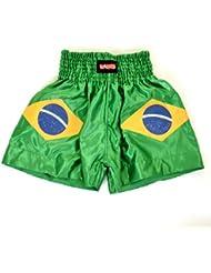 Sidekick niños, Childs Brasil Muay Thai Kick Boxing Bjj estilo lucha pantalones cortos 6–12años