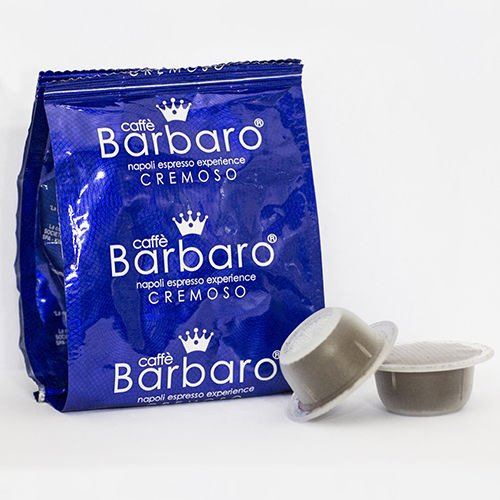 300 CAPSULE CAFFE\' BARBARO compatibili bialetti CREMOSO NAPOLI