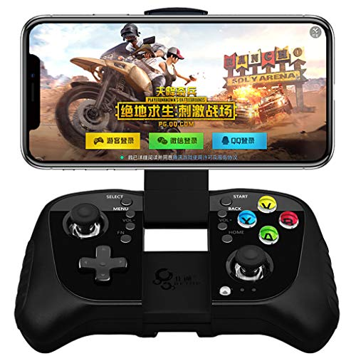 TianranRT Bluetooth-Spiele-Controller Direct Joypad Playpubg ios/Android Universal (Mehrfarbig), schwarz