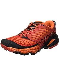 La Sportiva Akasha, Calzado Trail Running para Hombre, Rojo (Flame), 41.5 EU