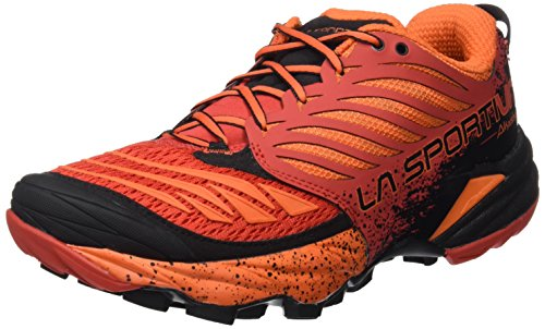 La Sportiva Akasha Trail Running Calzado para Hombre, Rojo (Flame), 43.5
