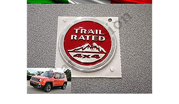 SXMA 1 Paio Snow Mountain Trail nominale 4X4 targhetta in Metallo Distintivo dellemblema Decal Snow Mountain Logo Car Sticker per JEE p Rosso