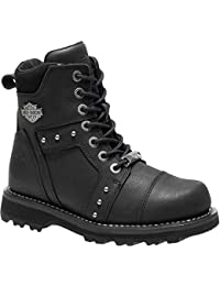 1a7e6a84be332 Harley Davidson Womens Oakleigh Leather Boots