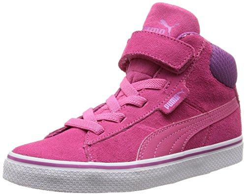 Puma Puma 1948 Mid Vulc SD V Kids, Unisex-Kinder Hohe Sneakers, Pink (carmine rose-carmine rose-meadow mauve 03), 35 EU (2.5 Kinder UK)