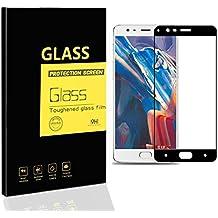 OnePlus 3 / 3T Protectores de Pantalla , MENGGOOD Full Películas de Protección Completa Vidrio Templado [ Bordes curvados ] Cristal Film protectora HD Invisible para One Plus 3 / 3T [ Negro ]