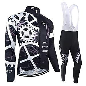51KoUUbbynL. SS300 BXIO Maglie Ciclismo Invernale PRO Racing Abbigliamento Bici Autunno Uniforme Ciclismo Manica Lunga Man Sport Jersey 080
