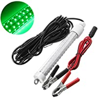 NUZAMAS 10W LED subacuático sumergible Night Fishing Fish Light (verde) Crappie Shad Squid Boat Kayak Cebo de pesca