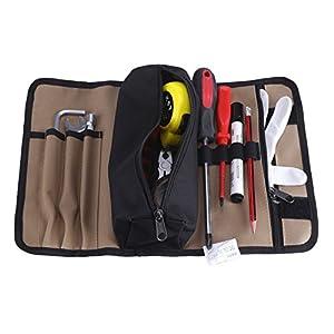 Zerodis – Estuche enrollable para herramientas portátil bolsas portaherramientas en tejido Oxford 600d bolsa de herramientas electricista