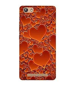 printtech Love Heart Pattern Back Case Cover for Gionee Marathon M5 Lite