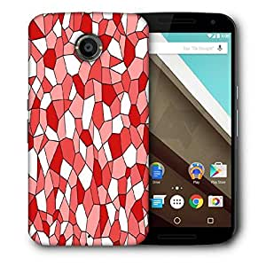 Snoogg Red Blocks Printed Protective Phone Back Case Cover For LG Google Nexus 6