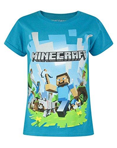 Minecraft - Camiseta de manga corta oficial de Minecraft modelo Advent