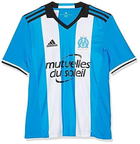 adidas - Olympique - Marseille - Maillot de Football - Mixte Enfant - Bleu (Om Blue/White/Black) - FR: 9-10 ans (Taille Fabricant: 140)