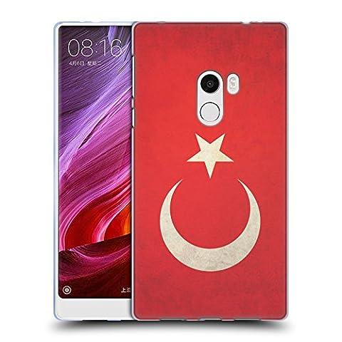 Head Case Designs Türkei Türkisch Vintage Fahnen Soft Gel Hülle für Xiaomi Mi Mix