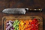 Stallion Damastmesser Ironwood Santokumesser 17,5 cm - Messer aus Damaststahl mit Griff aus Eisenholz in Edler Geschenkbox - 2
