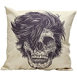 Funda Cojines,Xinan Almohada Caso Cubierta Amortiguador Víspera de Todos los Santos Calavera Skull