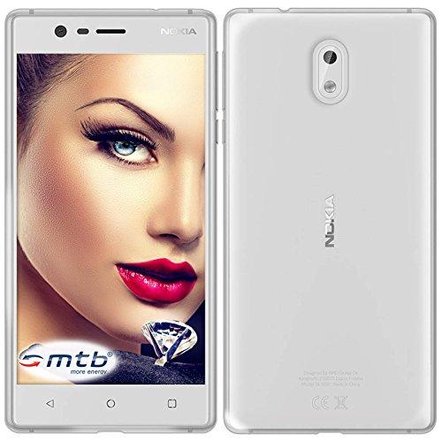 mtb more energy® Schutz-Hülle Clear & Slim für Nokia 3 (5.0'') | transparent | flexibel | TPU Case Schutz Hülle Tasche