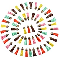Souarts Mixte Pendentif Breloque Pompon Gland Décoratif Multicolore 3.8x1cm 30PCS