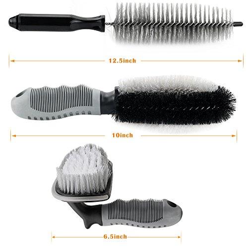SYCEES-Set-di-3-Spazzole-per-Cerchioni-Auto-Spazzole-per-Pulizia-lavaggio-di-Auto-Funzione-Universale-Misure-Diverse-per-Varie-Esigenze