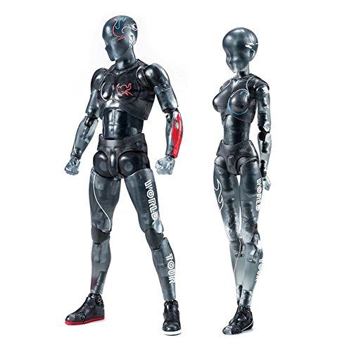Rokoo Körper-Kun / Chan DX PVC Männlichen / Weiblichen Action Figure Modell für SHF Kinder Kinder Sammler Spielzeug Geschenk (Male Model-figur)