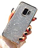Misteem Fine Paillettes Coque Galaxy S9 Plus, Luxe Flash Glitter Diamant Silicone TPU Couverture Souple Ultra Mince Antichoc Case Cover Sparkle Cristal Strass Étui Brillant Housse de protection pour Samsung Galaxy S9 Plus [Argent]