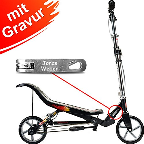 Space Scooter X580 schwarz MIT Gravur (z.B. Name)