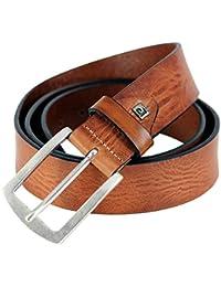Ceinture et ceinture en cuir pour homme cognac pierre cardin 70040